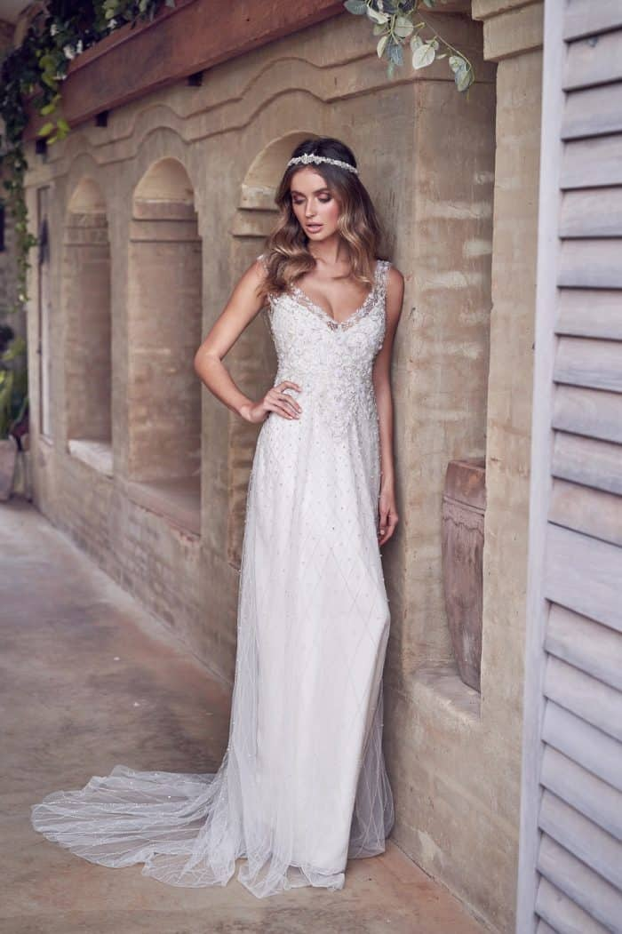 Paige | Embellished wedding dress by Anna Campbell Wanderlust