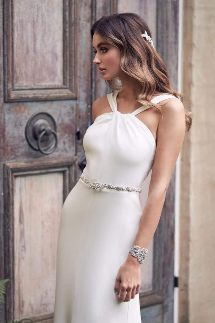 Modern silk wedding dress by Anna Campbell