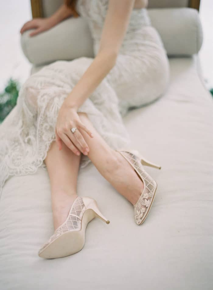 Romantic wedding heels by Bella Belle