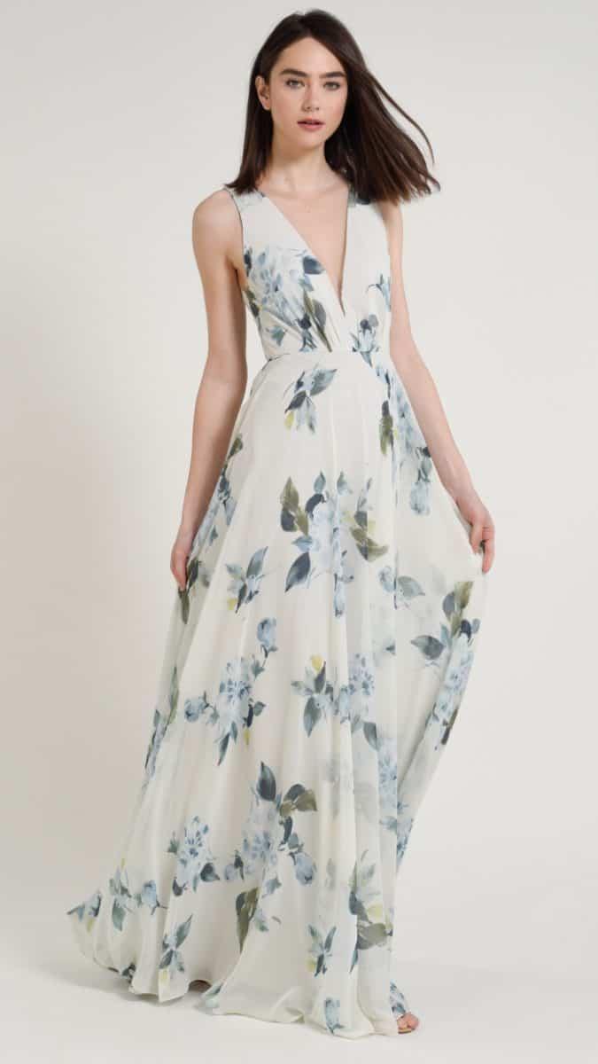 Jenny Yoo Ohana print bridesmaid dresses