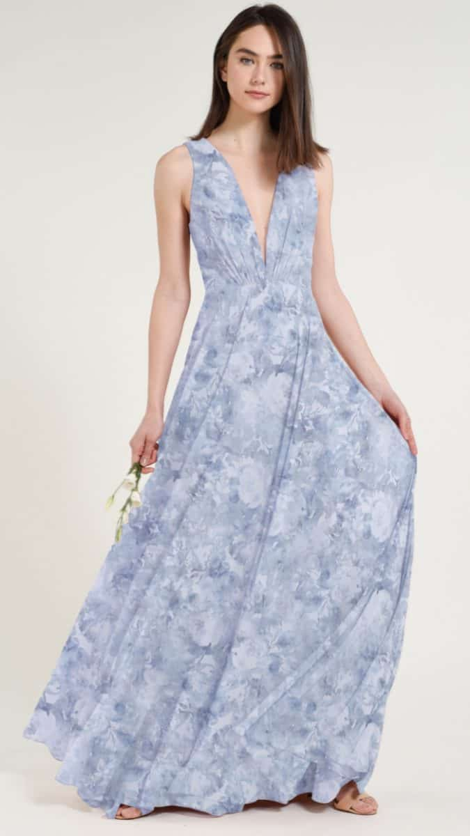 Jenny Yoo bridesmaid dresses in Whisper Blue