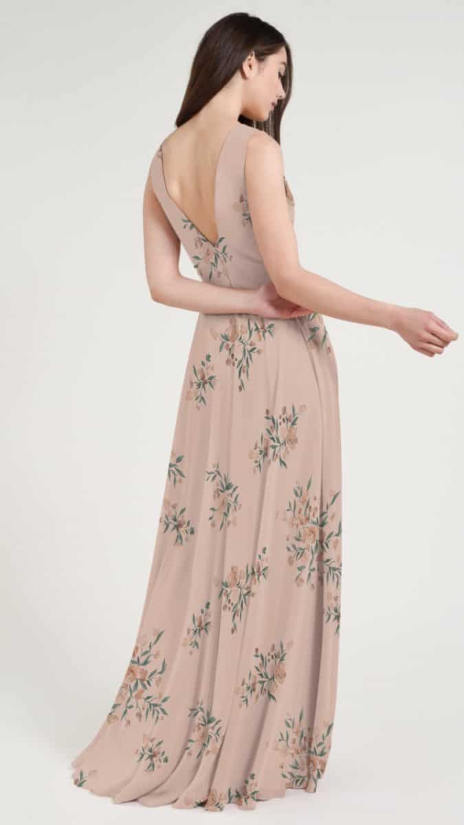 Pink floral bridesmaid dress by Jenny Yoo
