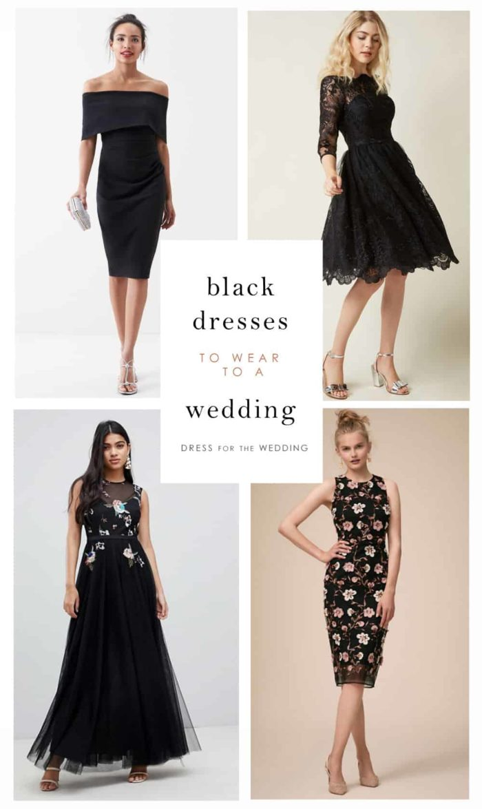 Black dresses to wear as a wedding guest