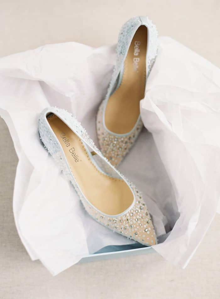 Crystal embellished wedding heels by Bella Belle