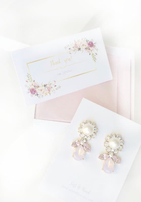 Preppy statement earrings for bridesmaid gifts