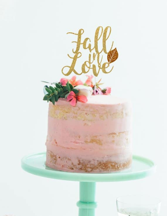 wedding cake topper for a fall wedding