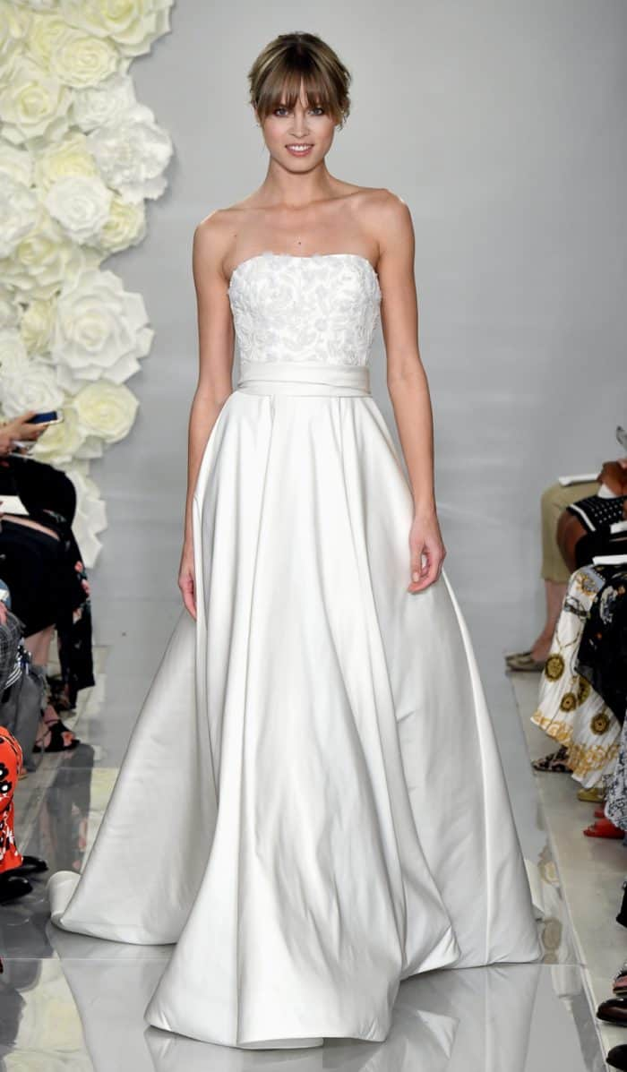 Theia wedding dresses 'Cassia' strapless wedding dress