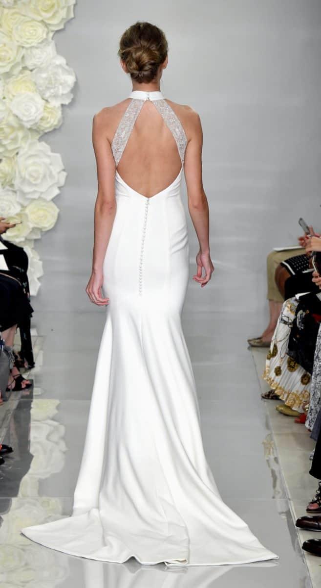 Fressia, back detail Theia wedding dresses Fall 2019