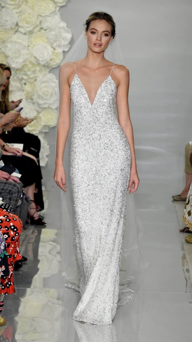 Theia Aster wedding dress | All over sequin gown