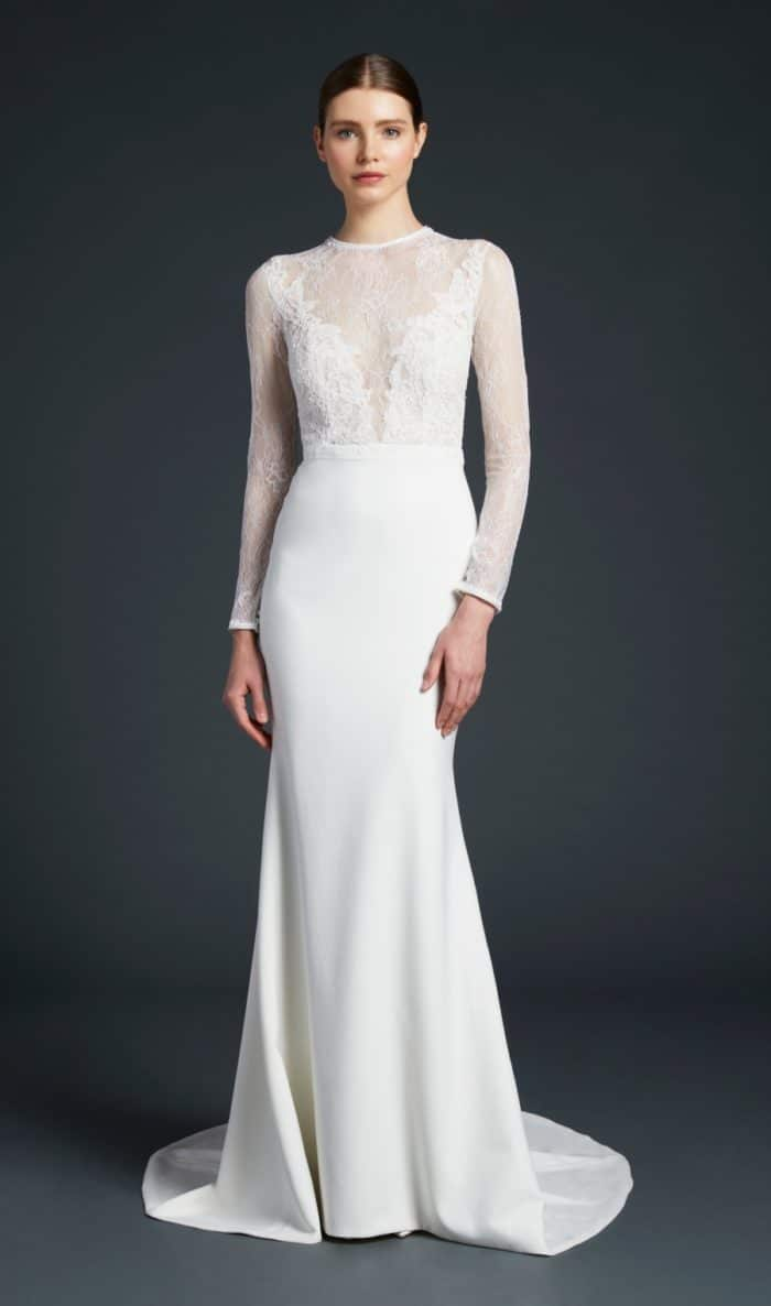 Anne Barge wedding dresses 2019 | Zaha | Long sleeve plunge