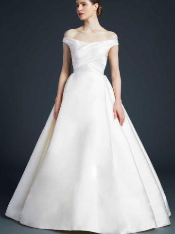Anne Barge off the shoulder ballgown wedding dress | Ellis