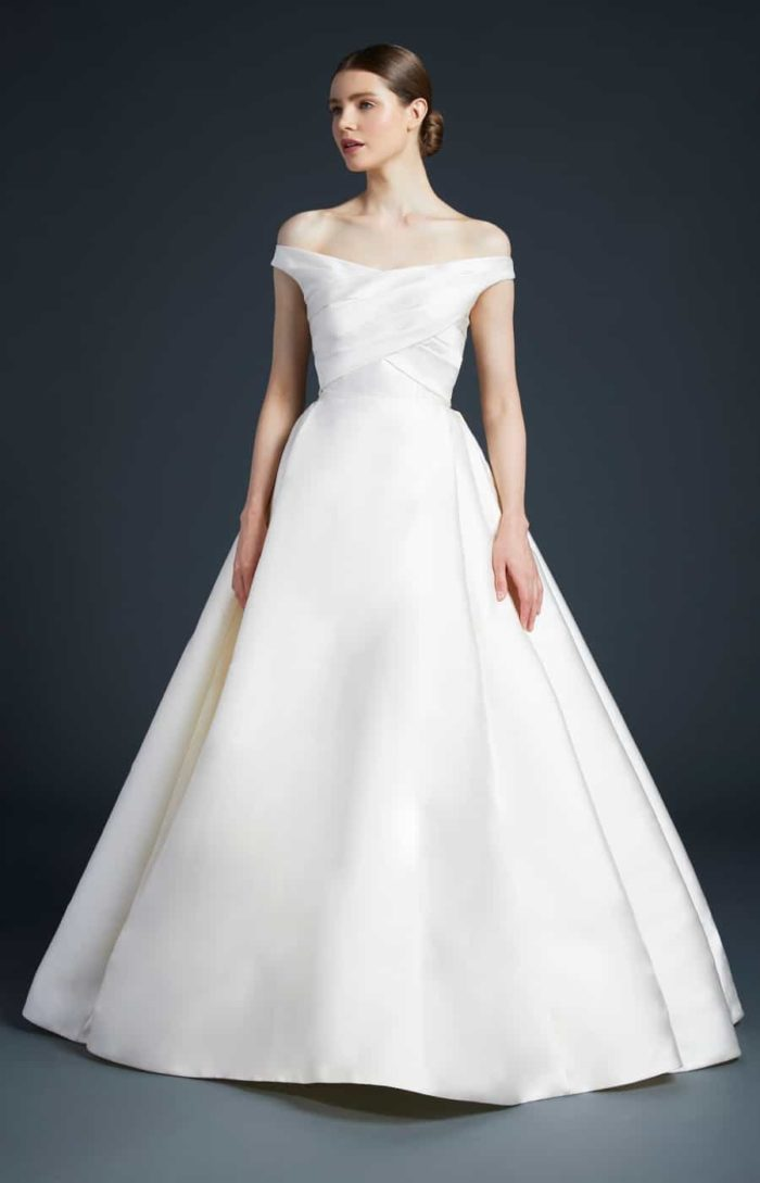 Anne Barge off the shoulder ballgown wedding dress | Ellis