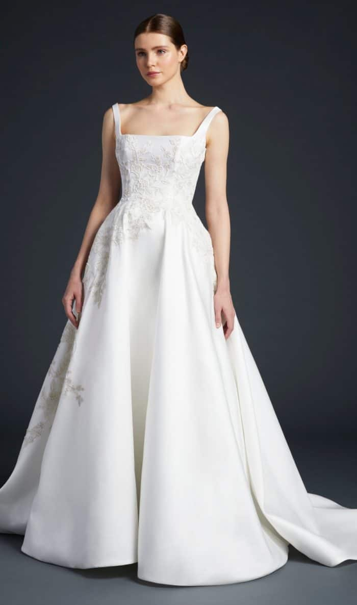 Anne Barge square neckline wedding dresses | Venturi