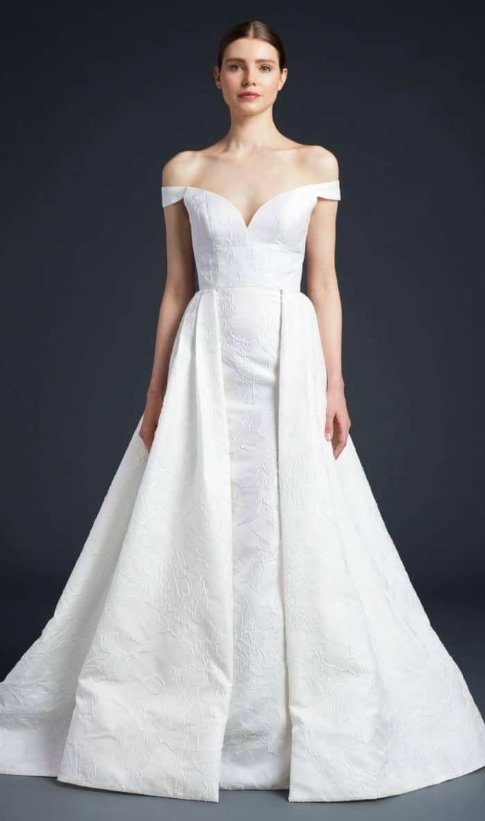 Frankie with overskirt by Anne Barge 2019 wedding dresses