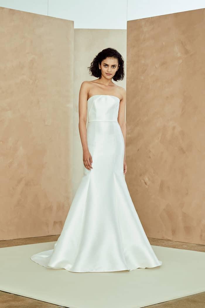 7f818f75b0a Strapless modern wedding dress Nouvelle Amsale Wedding Dresses Spring 2019