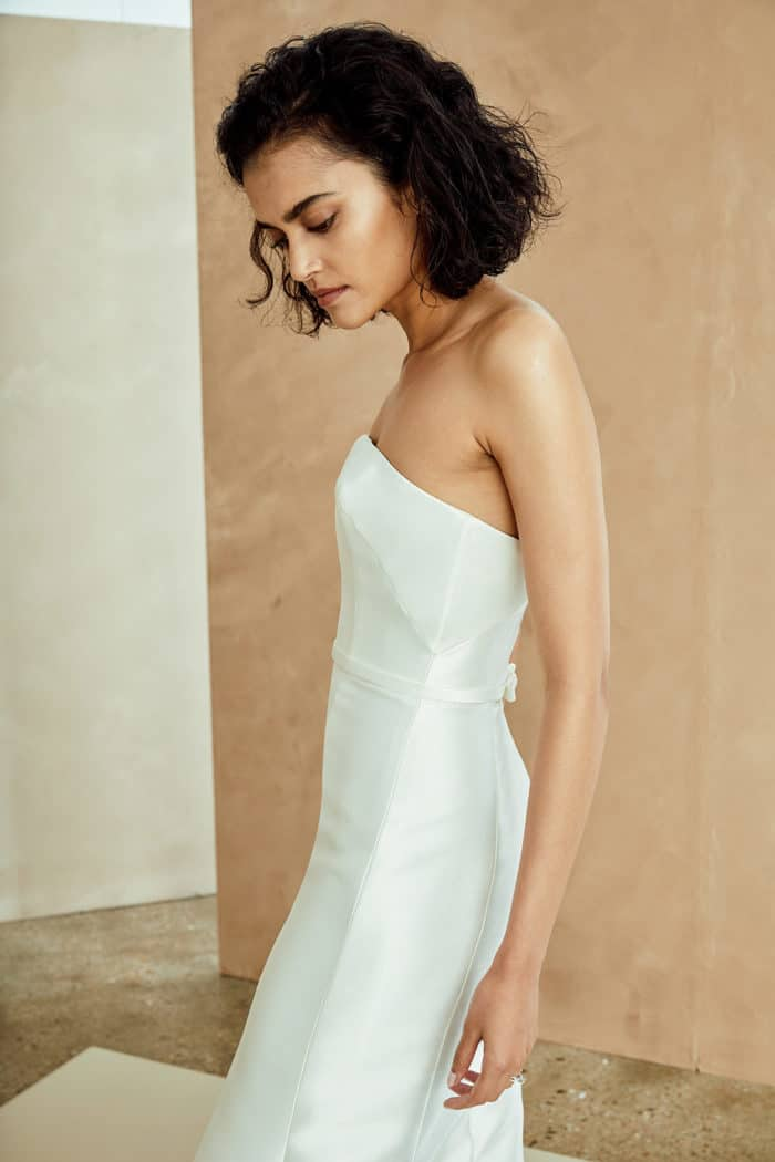 Strapless Nouvelle Amsale wedding dress