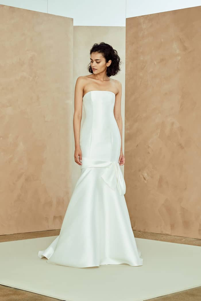 Strapless drop waist bridal gown | Rosa by Nouvelle Amsale