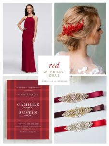 Red wedding ideas for a Red Wedding Color Scheme