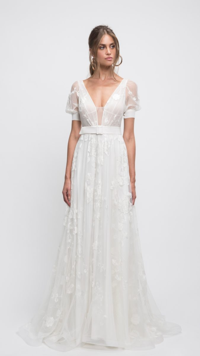 Short sleeve lace wedding dress | Lihi Hod 2019 wedding dresses