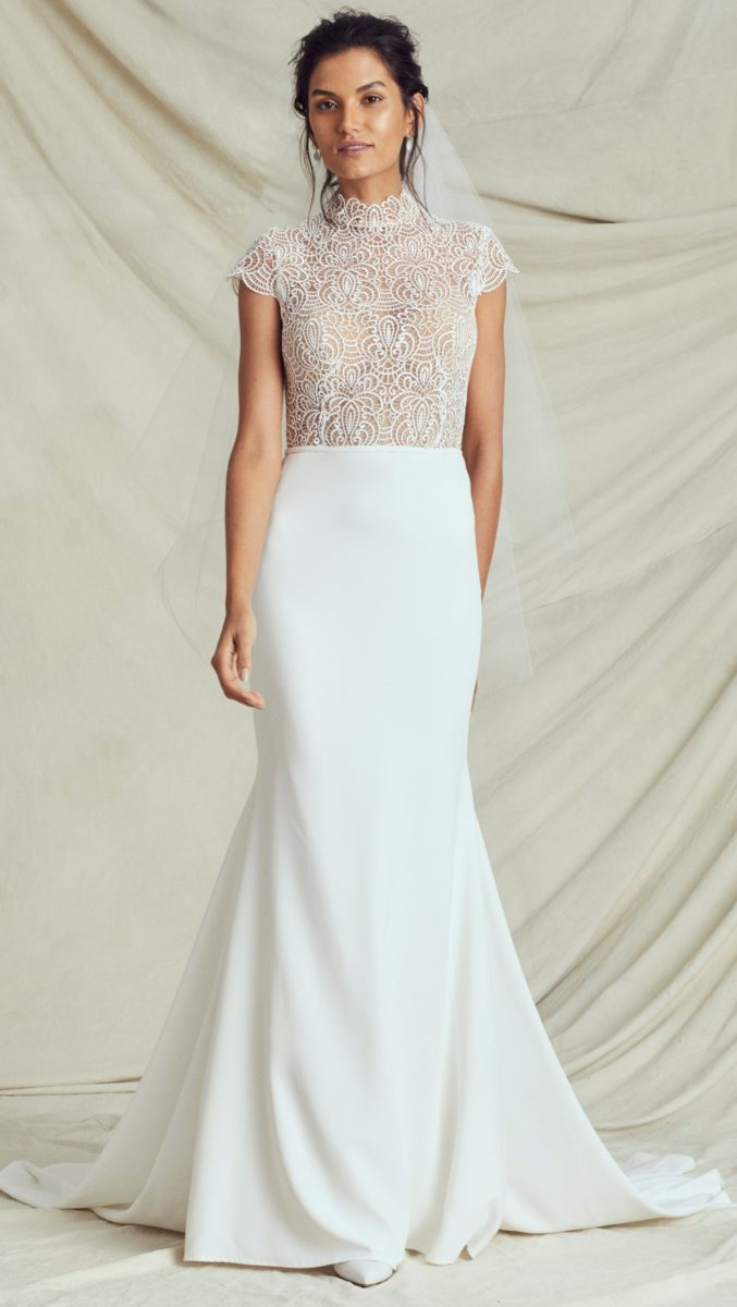 Adair Kelly Faetanini Fall 2019 Bridal Collection Lace bodice wedding gown
