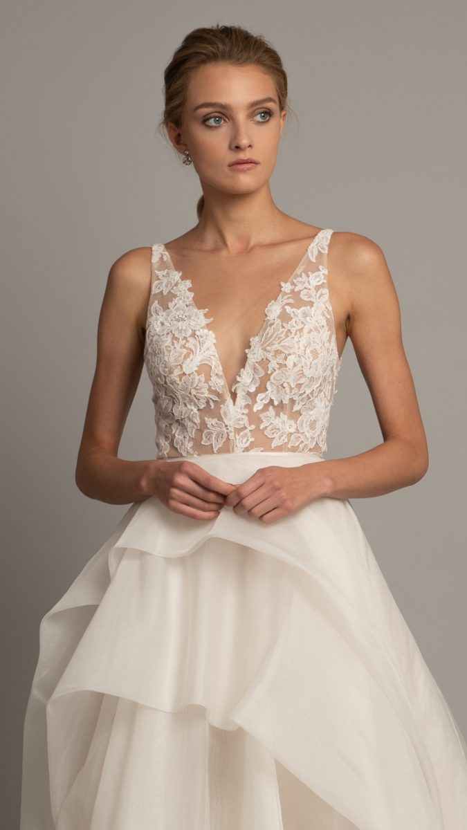 Lace bodice Jenny Yoo Collection Berkley Gown 2019
