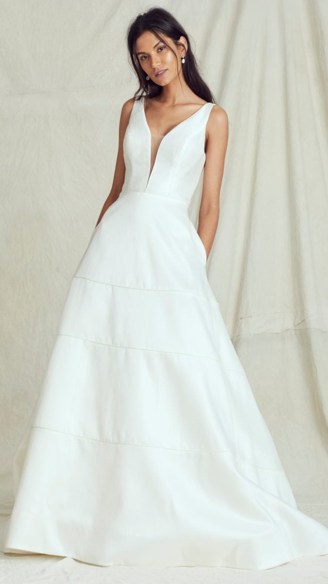 Blythe silk ball gown wedding dress by Kelly Faetanini Fall 2019 Bridal Collection