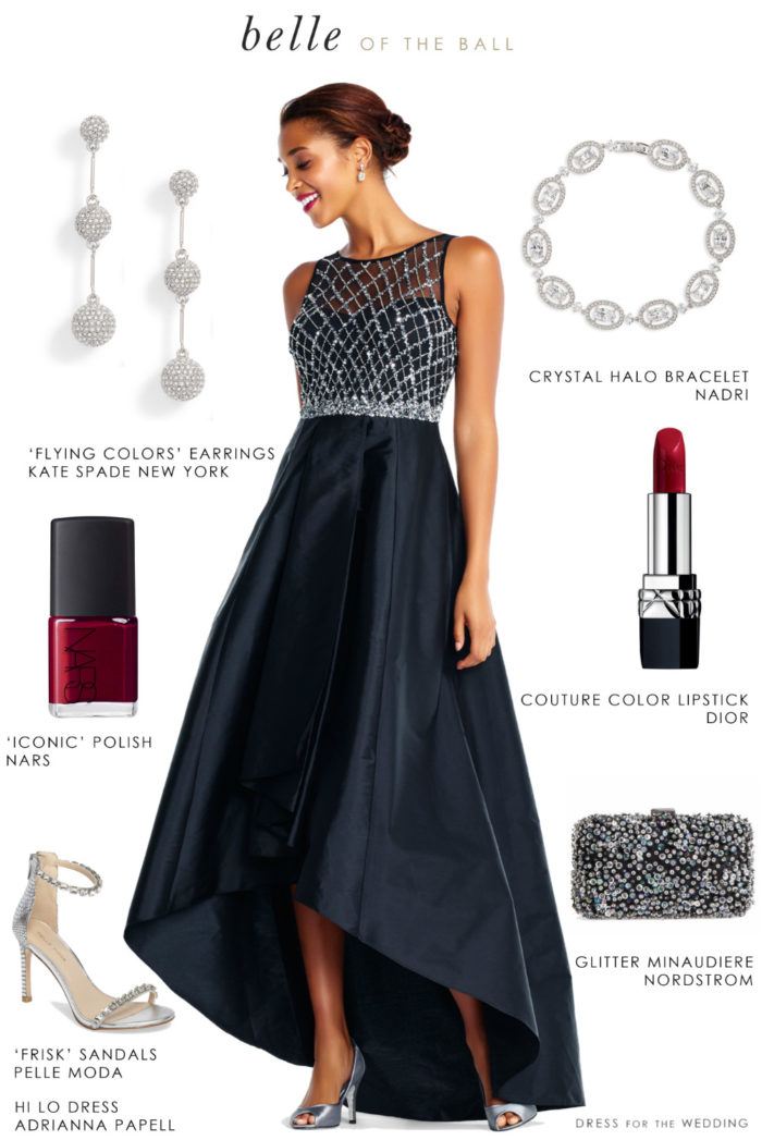 Outfit for black tie holiday wedding