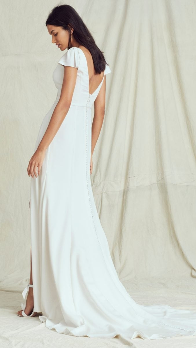 Cap sleeve wedding dress Kelly Faetanini Fall 2019 Bridal Collection