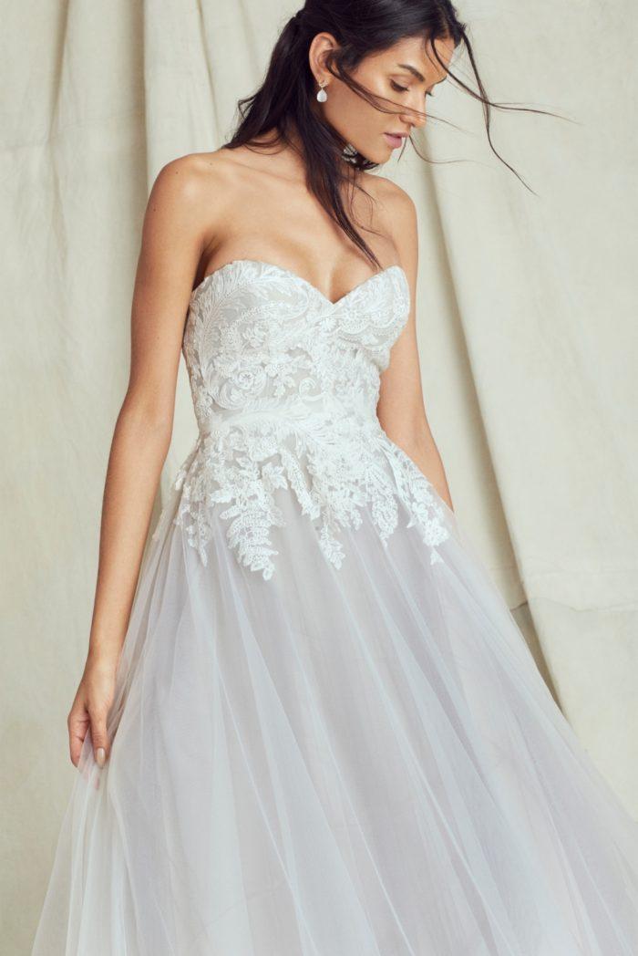 Ice blue wedding dress by Kelly Faetanini 2019 - Margo gown