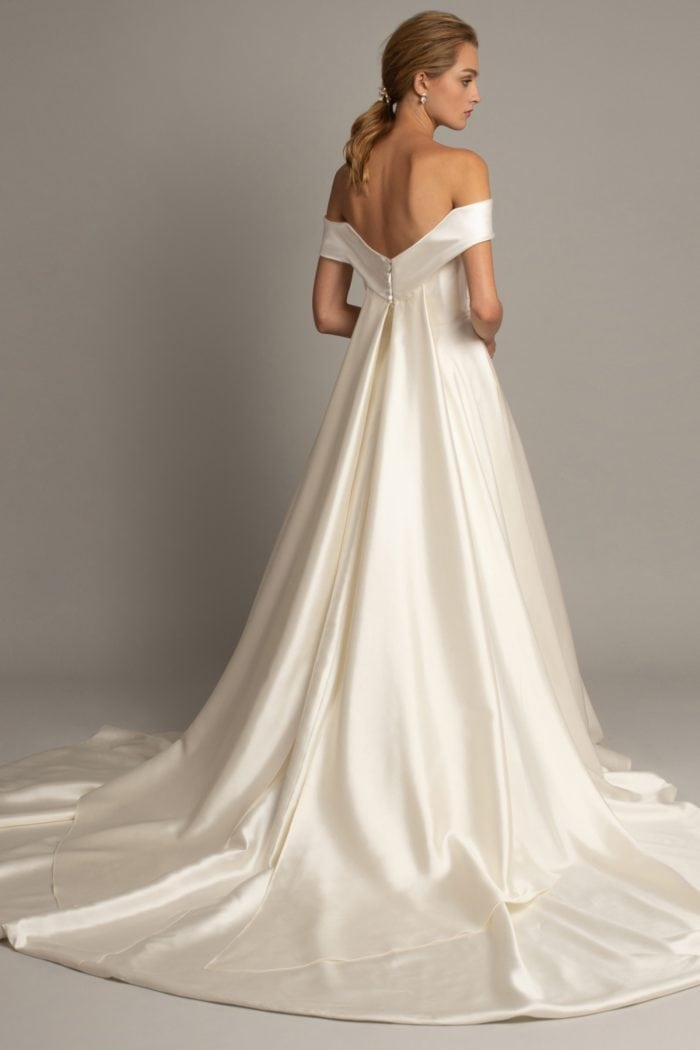 Draped Watteau back bridal gown Monet by Jenny Yoo wedding dresses 2019