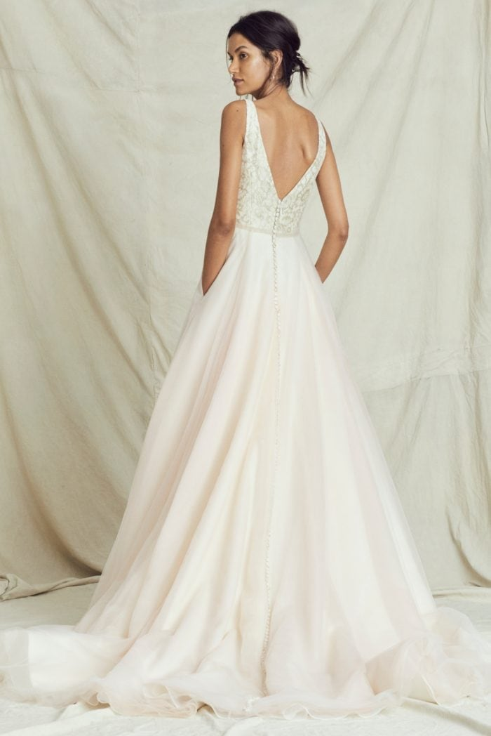 Blush ball gown wedding dress Kelly Faetanini Fall 2019 Bridal Collection