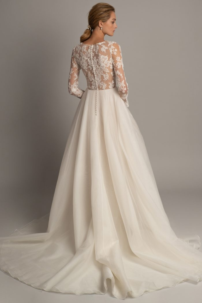 Valentina ball gown wedding dress with lace bodice and long sleeves 2019 Jenny Yoo Bridal Gowns