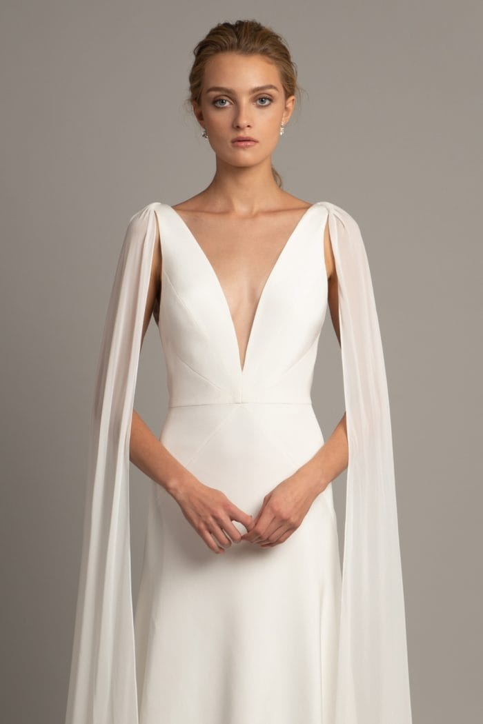 Jenny Yoo Collection wedding dress with cape