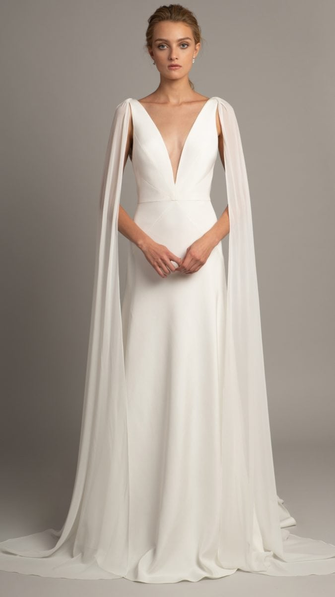 Wedding dress with cape | Wesley by Jenny Yoo Collection