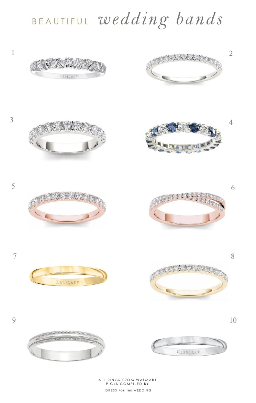 This is a photo of Wedding Bands and Jewelry for Your Wedding Day Dress for the Wedding