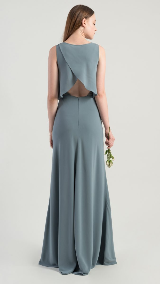 Open back bridesmaid dress by Jenny Yoo