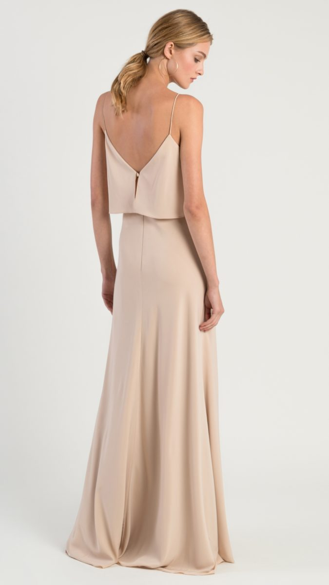 Neutral modern bridesmaid dresses by Jenny Yoo