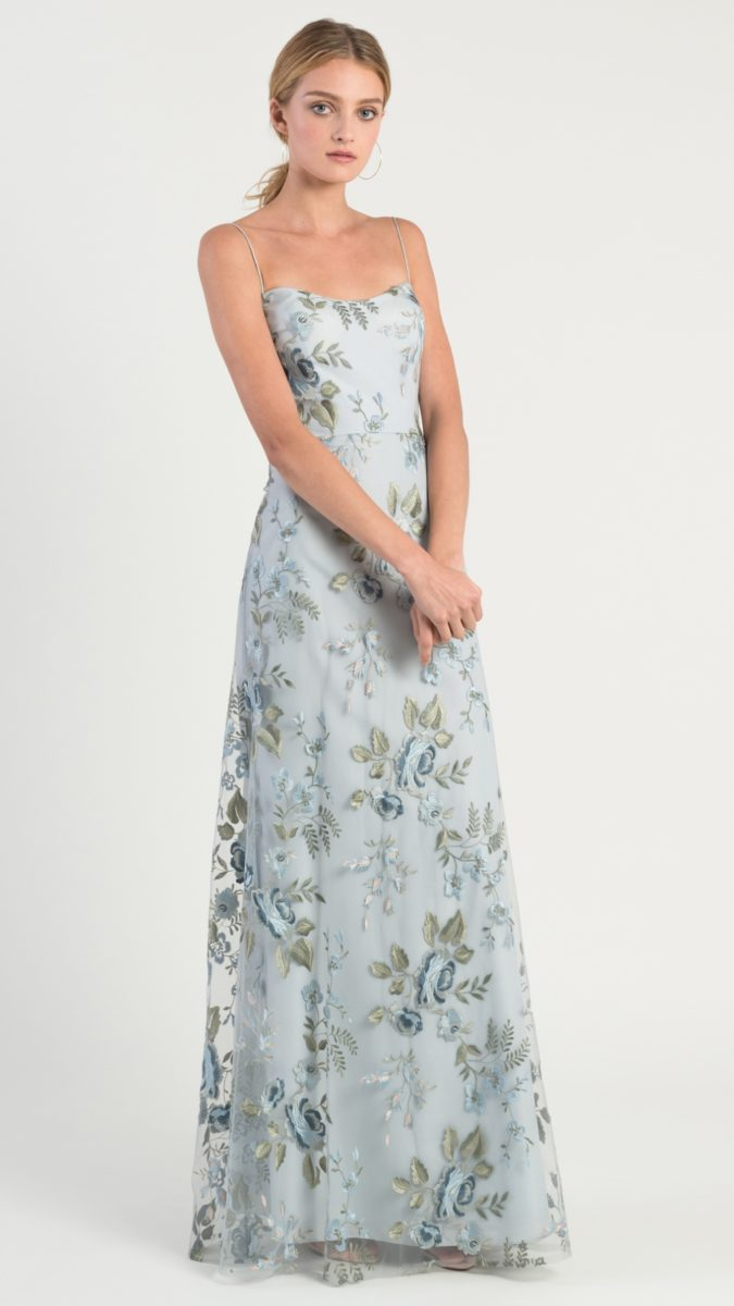 Blue floral bridesmaid dress | Drew bridesmaid dress by Jenny Yoo
