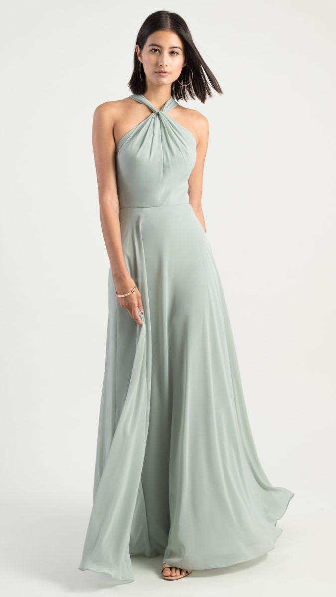 Twist neck bridesmaid dress | Halle by Jenny Yoo