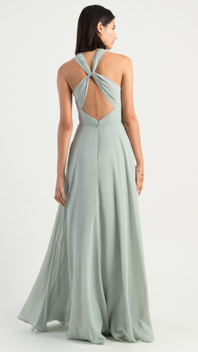 Twist back bridesmaid dress