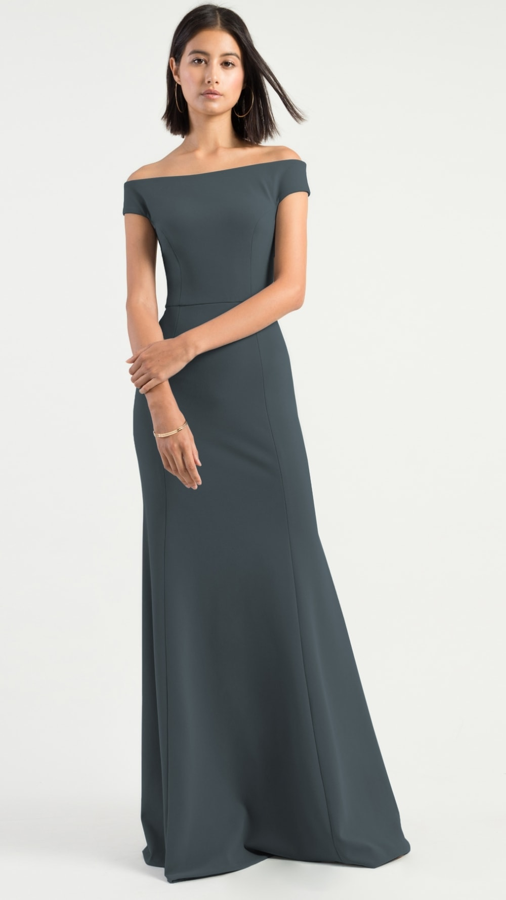 Off the shoulder bridesmaid dress | Larson Jenny Yoo