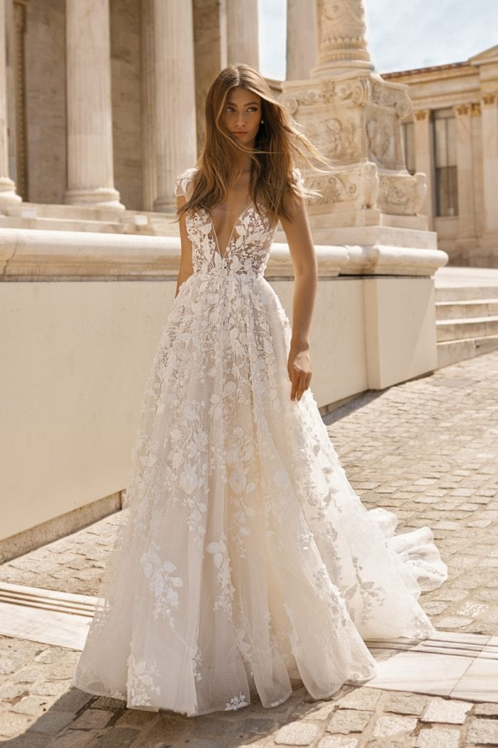 Floral lace applique bridal gown | Berta Bridal 2019