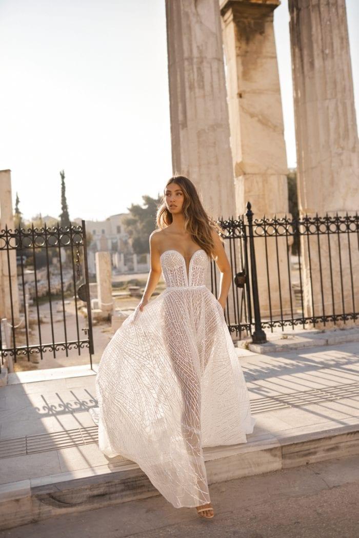 BERTA bridal couture strapless wedding dress