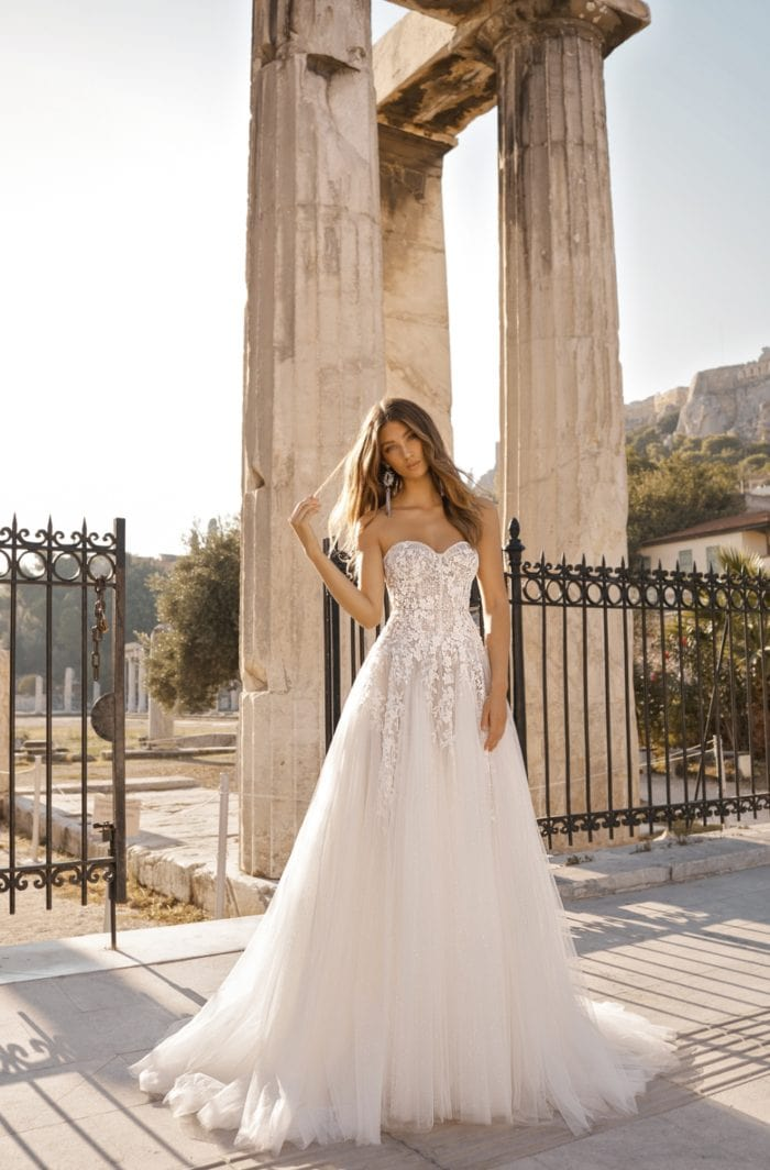 BERTA couture strapless wedding dress