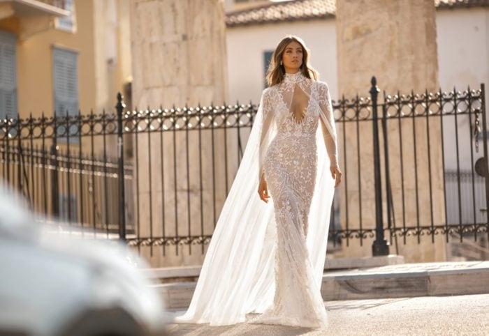 Dramatic long sleeve designer wedding dresses   Berta