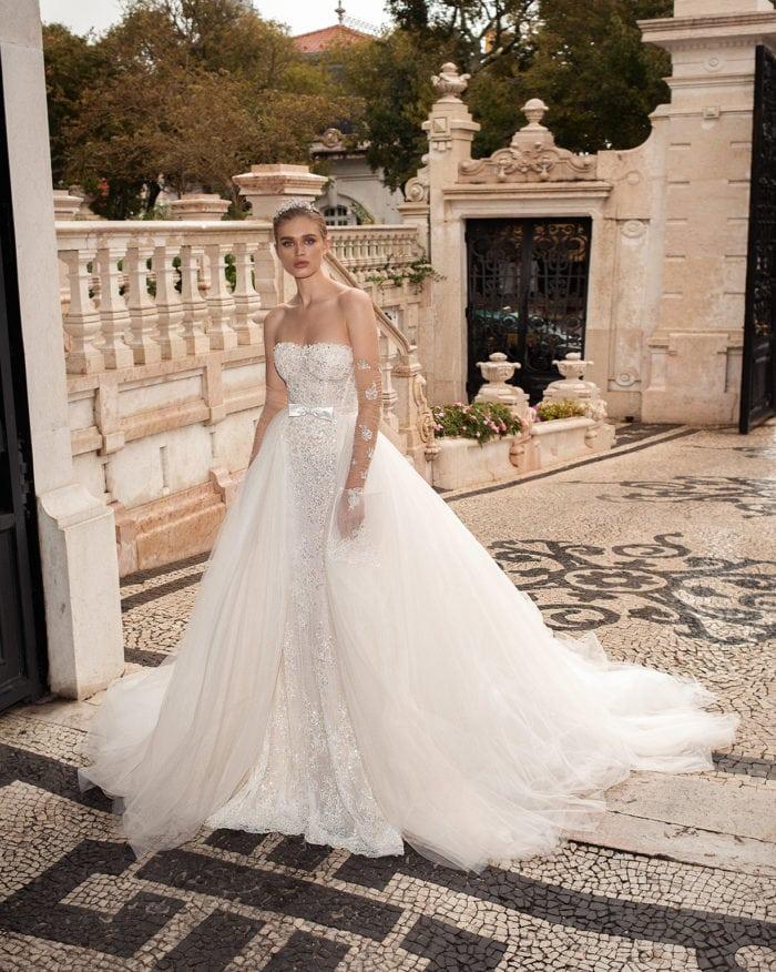 Galia Lahav Couture Wedding Dresses   Alba gown with Bianca overskirt