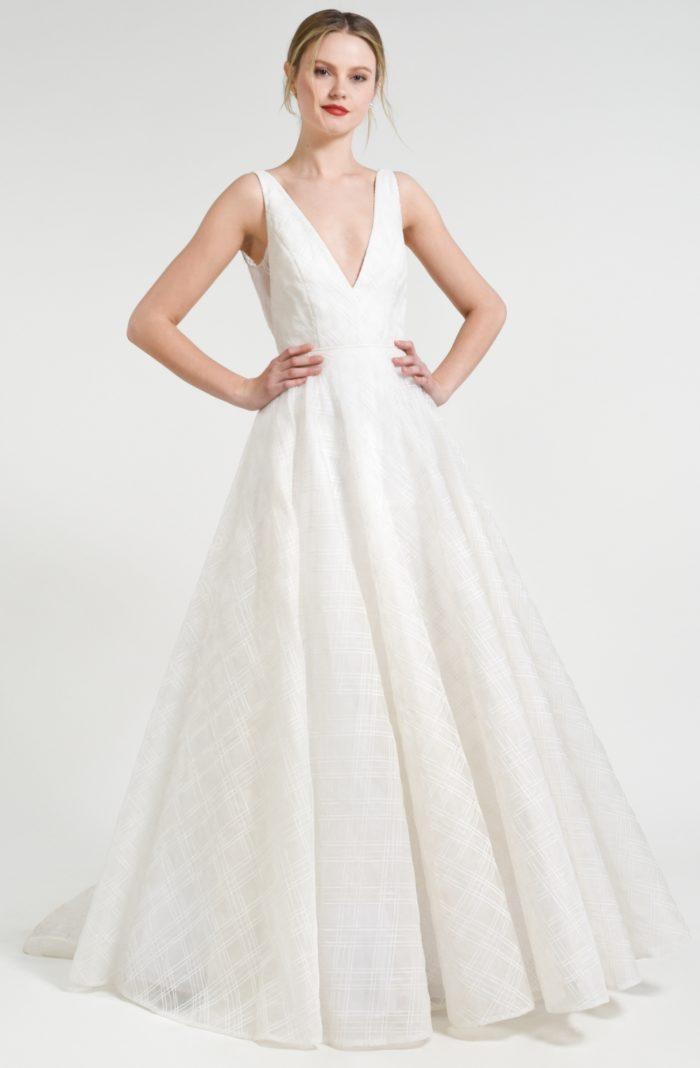 V neck ball gown wedding dress | Avery Jenny by Jenny Yoo Fall 2018