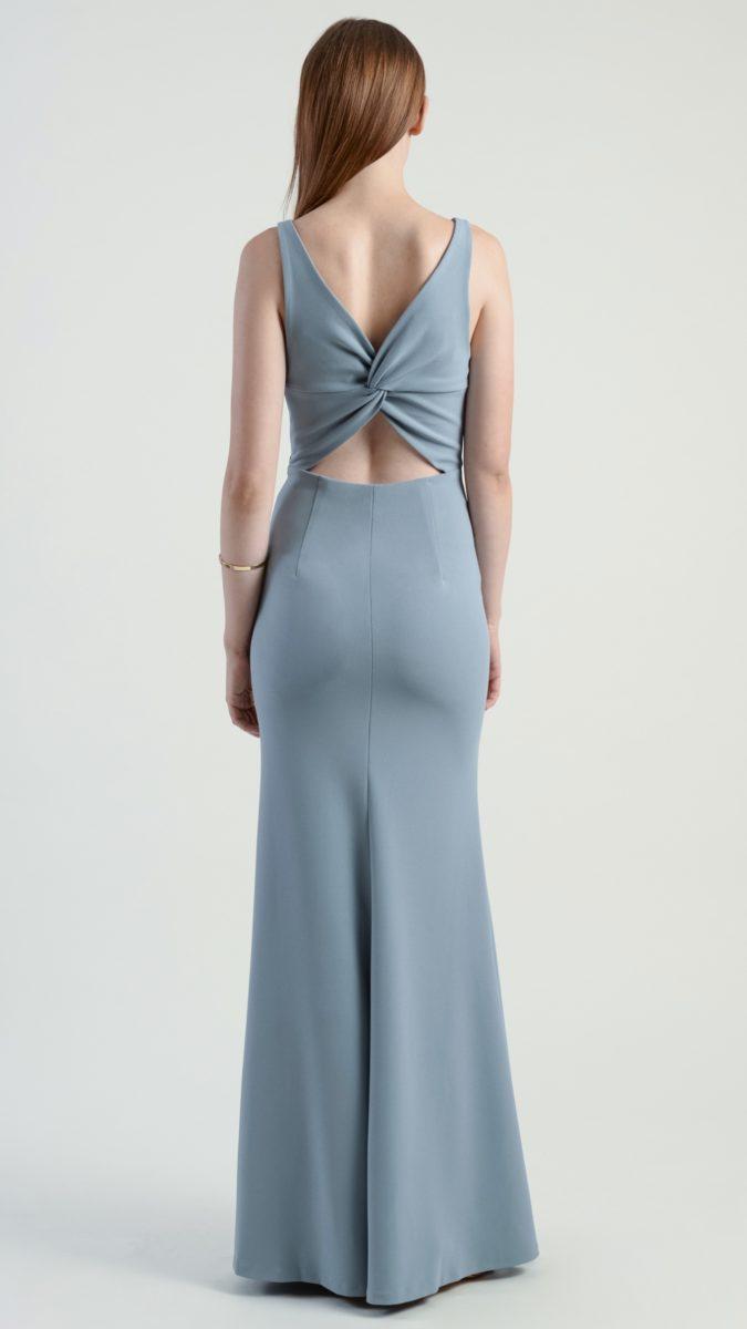 Twist back bridesmaid dress