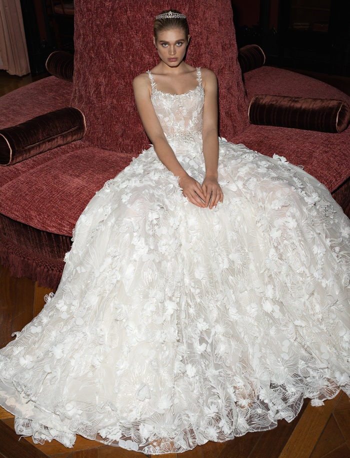 Floral ballgown wedding dress by Galia Lahav