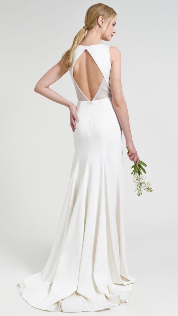 Back detail of Gwen | Jenny by Jenny Yoo boatneck wedding dress